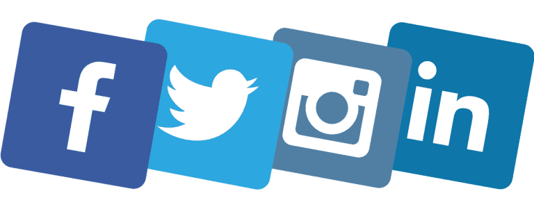 Facebook Twitter Instagram and Linkedin Logos