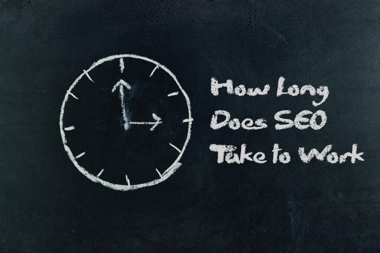 How Long Does SEO Take to Work for General Contractors Written on Chalkboard