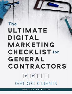 The Ultimate Digital Marketing Checklist for General Contractors Cover