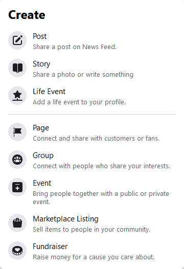 Facebook Create Page Step 2